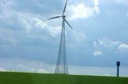 Самый большой в Беларуси ветряк выработал первые мегаватты электроэнергии