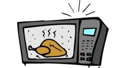 Пища, приготовленная в микроволновой печи,   причиняет вред для здоровья